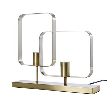 Lampe double géométrique en métal doré