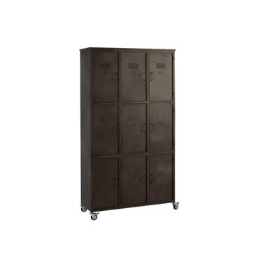 Armoire avec 9 casiers en métal