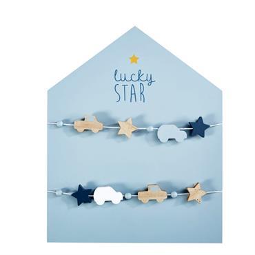 Pêle-mêle maison bleu 40x50