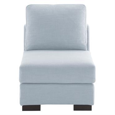 Chauffeuse de canapé bleu glacier Terence