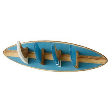 Patère 4 crochets bleue SURFING