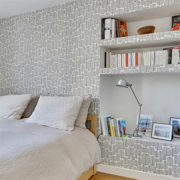 Petite chambre aménagée sur mesure