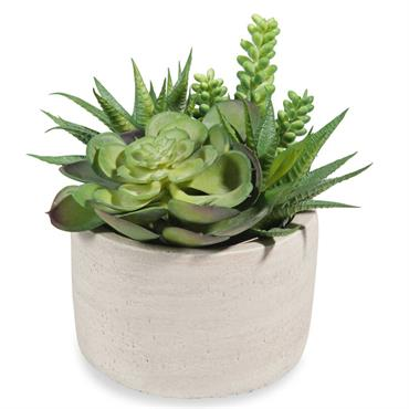 Pot de succulentes artificielles URBAN
