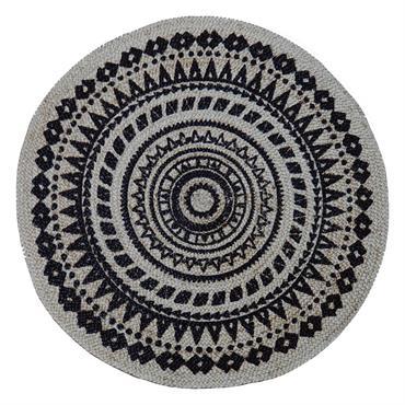 Petite table ronde rotin naturel