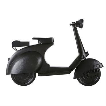 Déco murale scooter lumineux en métal noir 159x112