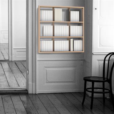 Bibliothèque suspendue sur mesure Wallbook