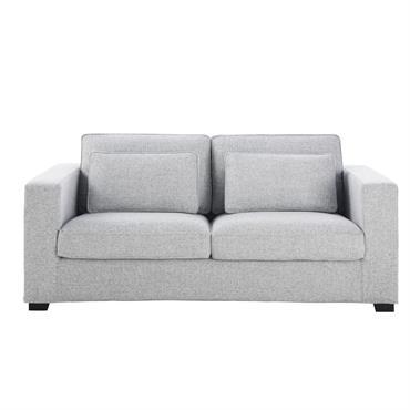 Canapé-lit 3 places gris clair chiné