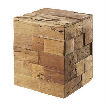 Tabouret en bois recyclé