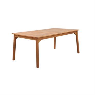 Table de jardin extensible 8 personnes en bois d'eucalyptus