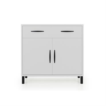 Buffet design 100cm en bois Blanc