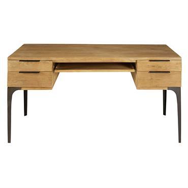 Distingué, ce bureau 4 tiroirs en manguier et acacia METROPOLIS reprend les codes de l'époque industrielle pour les remettre au goût du jour. Grandiose, la partie haute de ce bureau ...