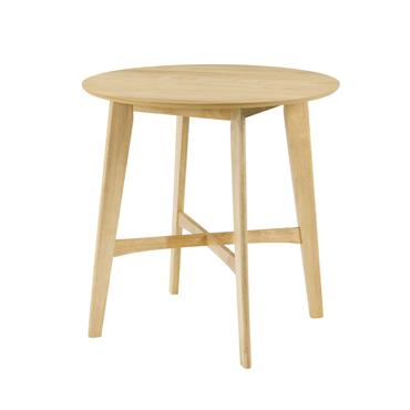 Table de bar ronde en bois clair