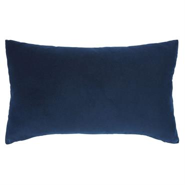 Coussin en velours bleu marine 30x50