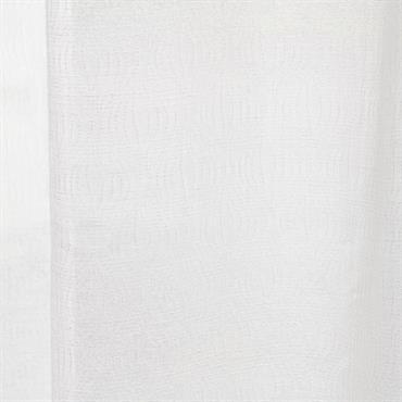 Rideau à illets blanc à broderies à l'unité 140x250