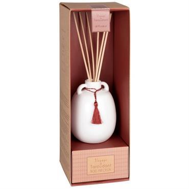 Diffuseur en céramique blanche parfum bois précieux 100ML