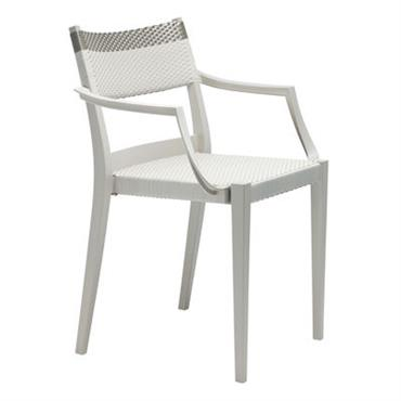 Fauteuil empilable Play / Fibre synthétique tressée - Play with Dedon Beige