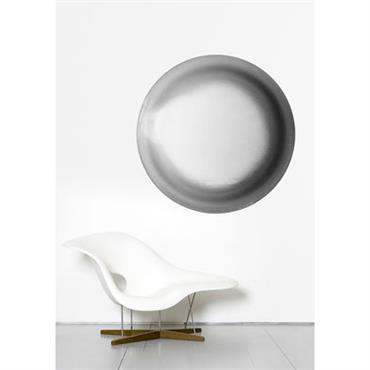 Papier peint Ellipse / Ø 93 cm - Domestic gris en papier