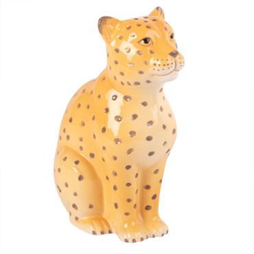 Statuette léopard en dolomite H18