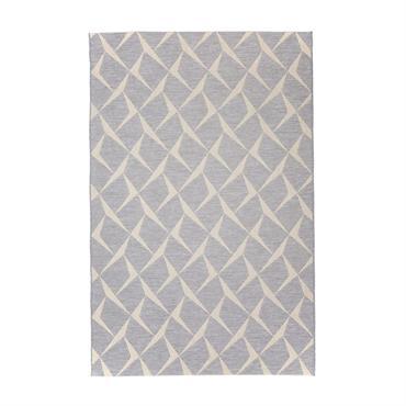 Tapis géométrique design en polypropylène argenté 130x190