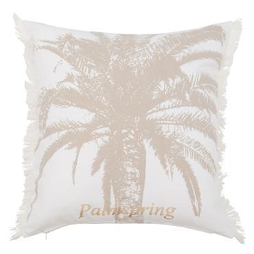 Housse de coussin en coton imprimé palmier doré 40x40