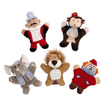 5 marionnettes enfant en tissu CIRCUS