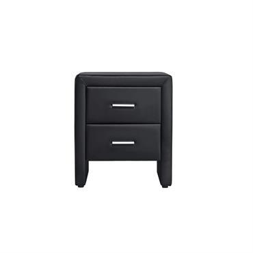 Table de chevet en simili noir