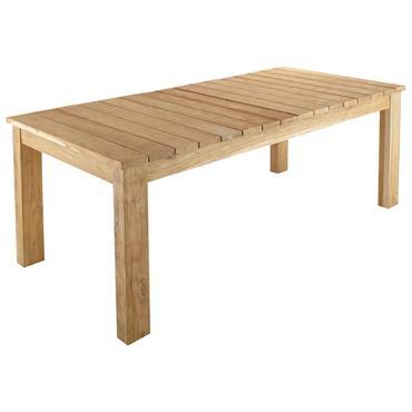 Table de jardin extensible en teck recyclé L220/300 Guerande