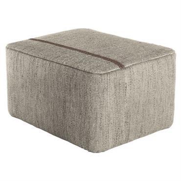 Pouf Mia / 77 x 57 cm - Nanimarquina gris en tissu