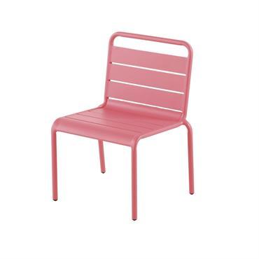Chaise enfant en métal rose Fun Summer