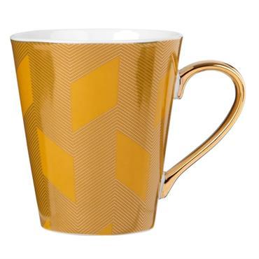 Mug en porcelaine jaune