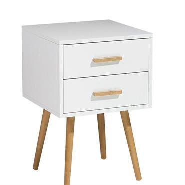 Table de chevet blanche 40 cm