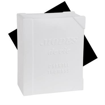 Lampe livre en céramique blanche Chantal Thomass