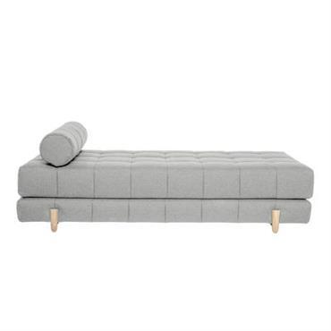Banquette Bulky / Dormeuse - Convertible lit 2 places - Bloomingville gris clair
