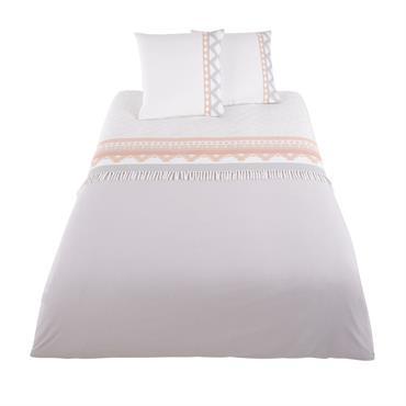 Parure de lit en coton motifs graphiques 240x260