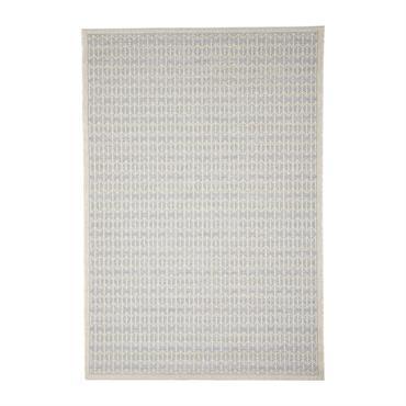 Tapis géométrique scandinave en polypropylène argenté 130x190