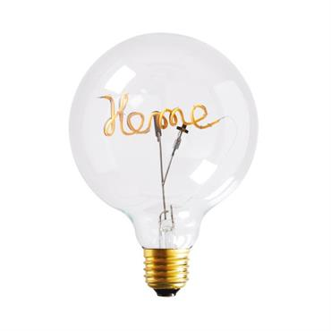 Ampoule LED message home en verre