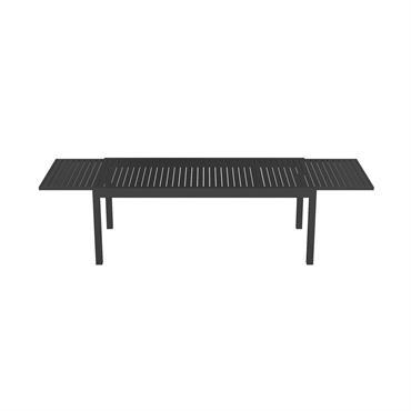 Table de jardin extensible 8 à 12 personnes en aluminium noir