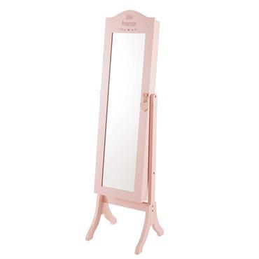 Miroir psyché rose en pin H