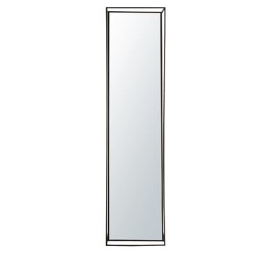 Miroir en tube de métal noir 38x152