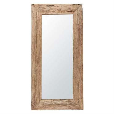 Miroir en teck recyclé 100x200cm WOODY