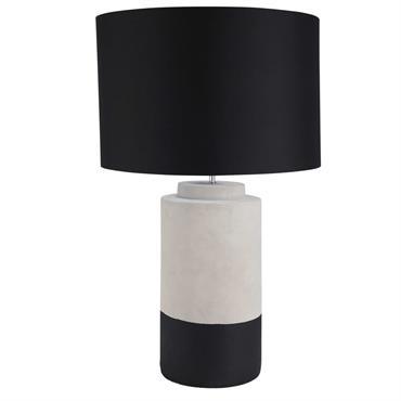 Lampe en ciment gris et noir SILLAGE