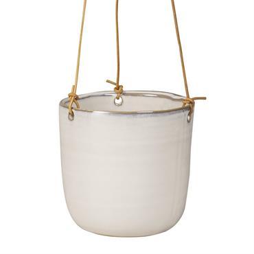 Cache-pot suspendu en céramique blanche H13