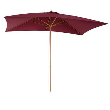 Parasol droit rectangulaire bordeaux