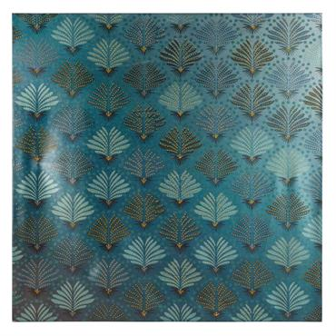 Toile verte à motifs 75x75