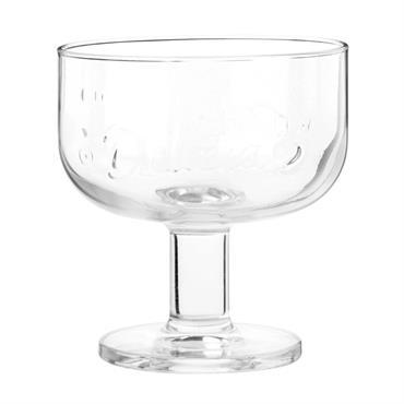Coupe à glace en verre taillé