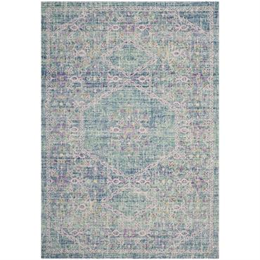 Miroir rond herbier bicolore rose/naturel