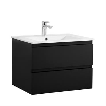 Meuble de salle de bain avec vasque Noir