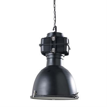 Suspension indus avec clips en métal noir