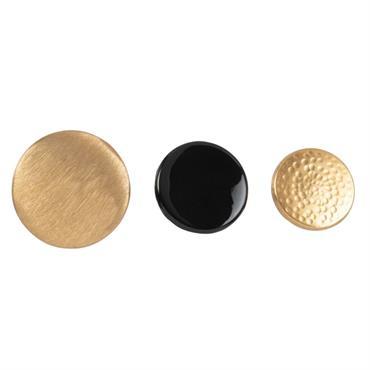 Patères en métal doré et noir