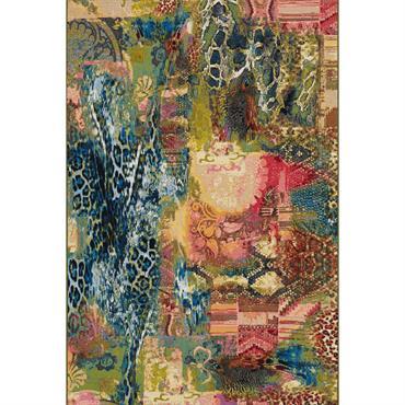 Tapis pour l'intérieur et l'extérieur - multicolore 160x160 cm
